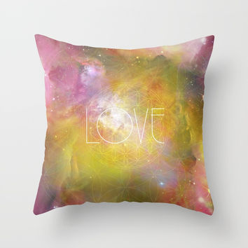 Love Throw Pillow by Andreia Treptow Illustrations