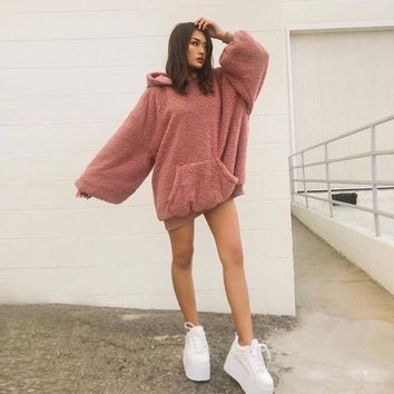 Rosé Oversized Pullover