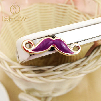 10pcs/lot Multicolor Mustache Shaped Cute Little Earphone Hole Plug Dust Plug 3.5mm Universal Phone Plug