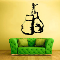 rvz790 Wall Vinyl Sticker Bedroom Kids Decal Boxing Gloves Box
