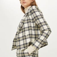 Checked Crop Jacket