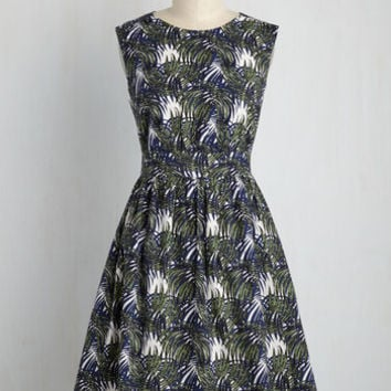Too Much Fun Dress in Sketched Palms