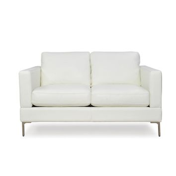 Tobia  Contemporary Loveseat Snow White