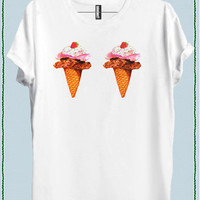 ICE CREAM BOOBS WOMEN T-SHIRT code20806