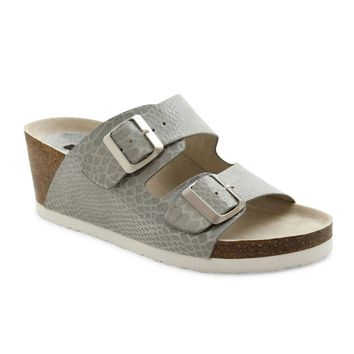 Kensie Wenda Grey Wedge Sandals