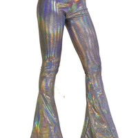 Holographic Oil Spill Pants