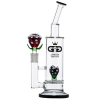 Grace Glass - Limited Edition Bong with HoneyComb Disc Perc - Red Mario Plant
