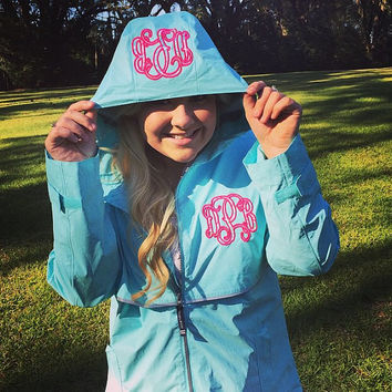 Charles Rivers Rain Jacket with Lilly Pulitzer Fabric