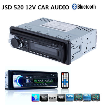 Registered Car Radio with ISO Cable 12V Bluetooth Car Audio Stereo In-dash 1 Din FM Aux SD USB MP3 MMC WMA Car MP3 Player