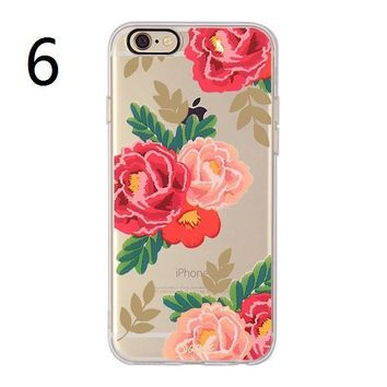 Hot Deal Cute On Sale Stylish Iphone 6/6s Floral Soft Phone Case [11193077140]