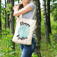 Stronger Together - Support Earth Cotton Tote Bag
