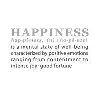 wall quotes wall decals - HAPPINESS: A Definition