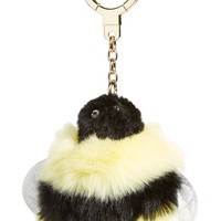 kate spade new york 'queen bee pom pom' faux fur bag charm | Nordstrom