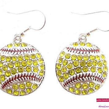 Softball Earrings Dangle