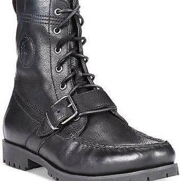 Polo Ralph Lauren Ranger Boots black color