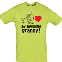 love my awesome granny,men shirt,women shirt,gift for her,gift for granny,gift for girlfriend,gift for boyfriend,best friend gift,fun shirt