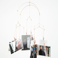KIKKERLAND Copper Photo Mobile | Lighting & Decor