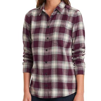 Plum Plaid Long Sleeve Flannel - G.H. Bass & Co.