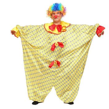 Free shipping ,halloween party cosplay Adult men fat big clown costume jumpsuit clothing wig