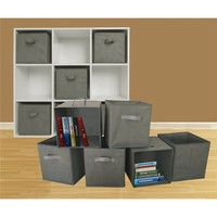 6Pack Foldable Home Cloth Book Closet Storage Oganizer Box