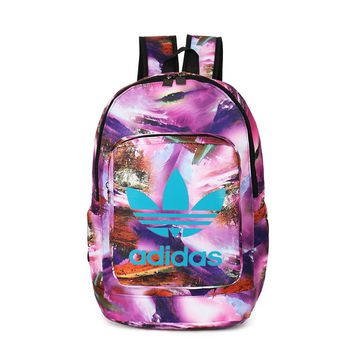 Adidas Fashion Print Sport School Shoulder Bag Satchel Travel Bag Backpack