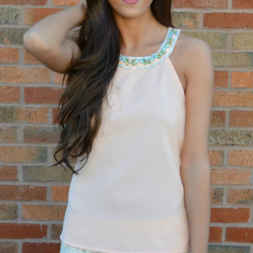 Pick Up The Peaches Jeweled Top