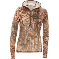 Game Winner® Women's Dura-Cool Realtree Xtra® 1/4 Zip Performance Hoodie