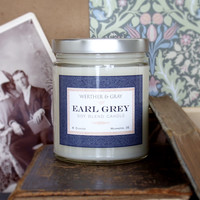 EARL GREY, Soy Blend Candle, 8oz Jar