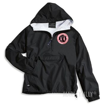 Monogrammed Patch Pullover Rain Jacket | Marley Lilly
