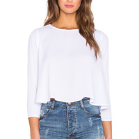 Show Me Your Mumu Claudia Top in White Crisp