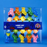Grateful Dead Dancing Bears Christmas Strung Light Set -- 10 Bears