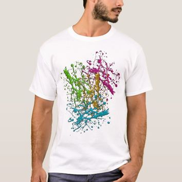 Metal Liquid Drops Dripping Abstract Original Art T-Shirt