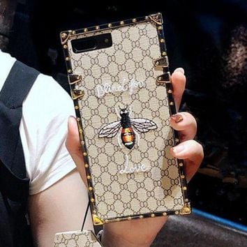 Gotopfashion Fashion luxury Hot Gucci Bee Embroidery iPhone Phone Cover Case For iphone 6 6s 6plus 6s-plus 7 7plus