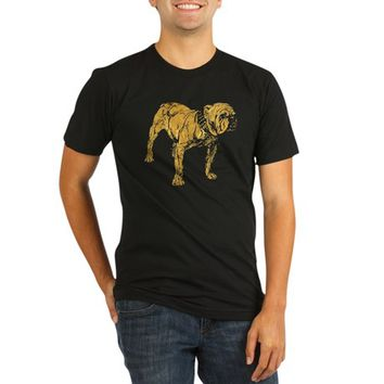 Golden Bulldog Organic Men's Fitted T-Shirt (dark)