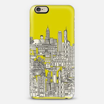 Hong Kong toile de jouy chartreuse iPhone 6s case by Sharon Turner | Casetify