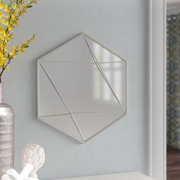 Hajek Hexagon Wall Mounted Mirror