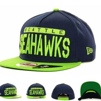 ONETOW Seattle Seahawks Nfl Sa-weeter 9fifty Snapback Cap Cap Snapback Hat - Ready Stock