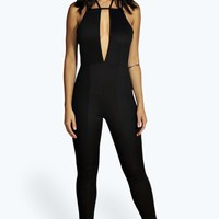 Rhea Strappy Back Plunge Neck Jumpsuit