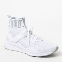 Puma IGNITE evoKNIT White & Gray Shoes at PacSun.com