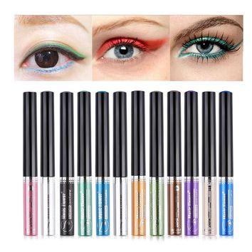 1 pc Colorful Glitter Eyeliner Makeup Beauty Liquid Eye liner Pen Shimmer Eyeshadow Cosmetic