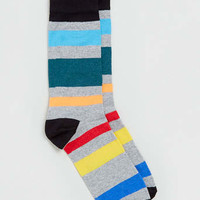 Salt And Pepper Striped Socks