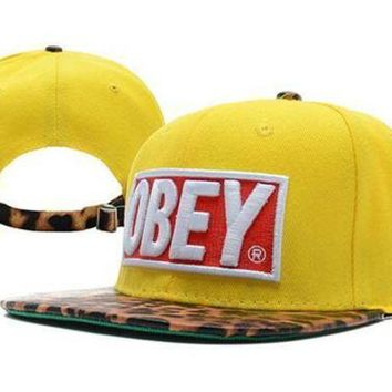 VONEED Obey Leopard Cap Snapback Hat - Ready Stock