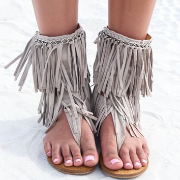 NOT RATED Namaste Taupe Sandals