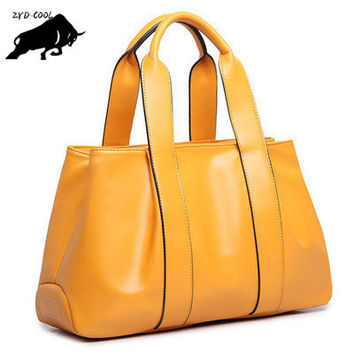 ZYD-COOL Large PU Leather Tote Bag 2016 Luxury Women Shoulder bags, Fashion Women Bag Brand Handbag Bolsa Feminina