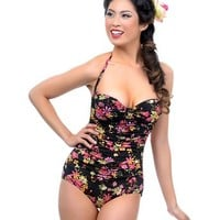 Esther William's Confetti Floral One-Piece Swimsuit
