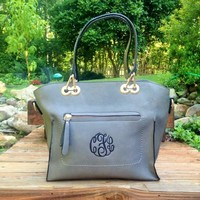 Monogrammed Purse - Grey Caitlin - I Flew the Nest