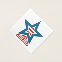 4th of July Star Napkin