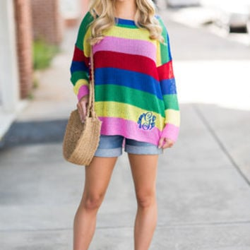 Over The Rainbow Sweater, Multi