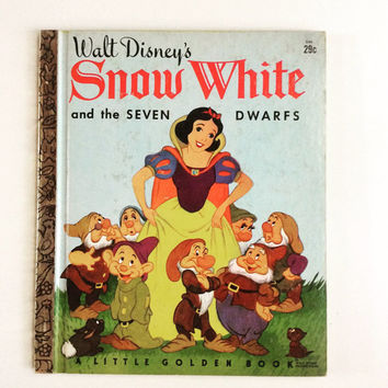 Walt Disney's Snow White - Vintage Little Golden Book