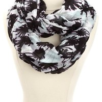 TROPICAL PRINT INFINITY SCARF